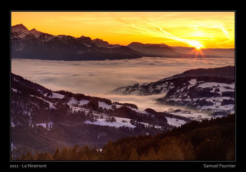 Vue depuis le Niremont - Fribourg - Décembre 2011