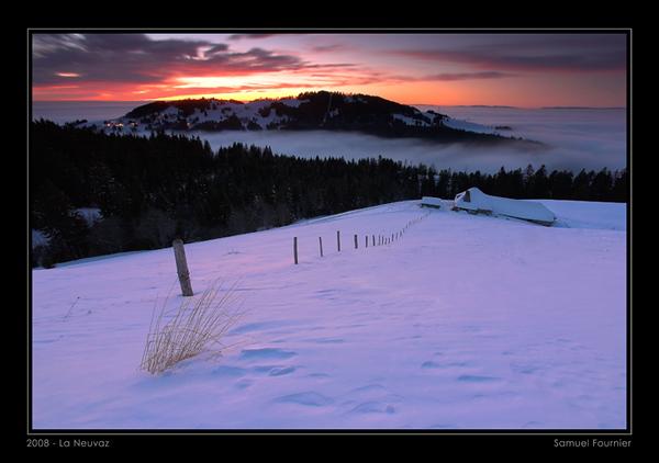 Vue sur Les Pléiades - Vaud - Décembre 2008