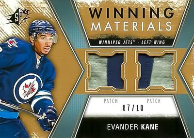 2014-15 SPx Evander Kane Patch