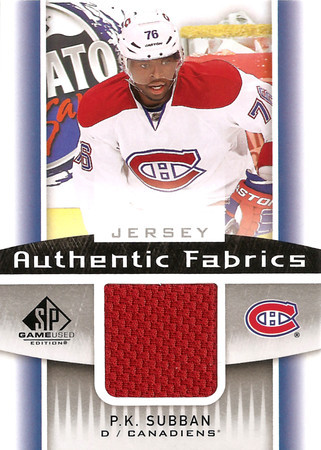 2013-14 UD SP Game Used Subban Jersey