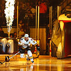 Captain Jamie Riviers #24 of the Chicago Wolves skates out during pre-game introductions before a game against the Milwaukee Admirals at the All-State Arena on February 20, 2009. The Admirals won the game 1-0. (Photo by Chris Jerina)