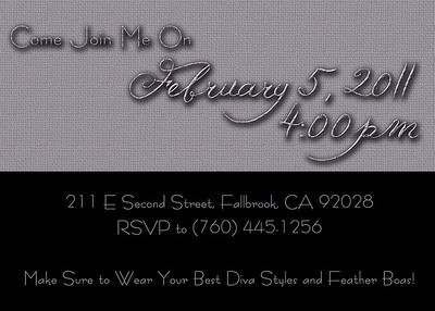 5x7 Invitation - Back