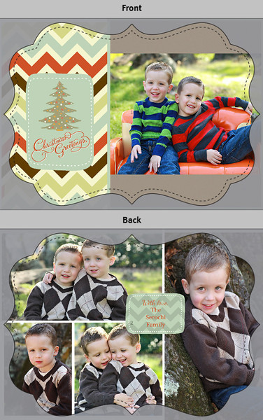 Christmas Greetings with chevron