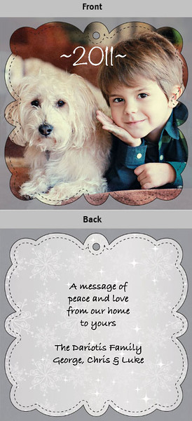 "5x5"" ornament card"
