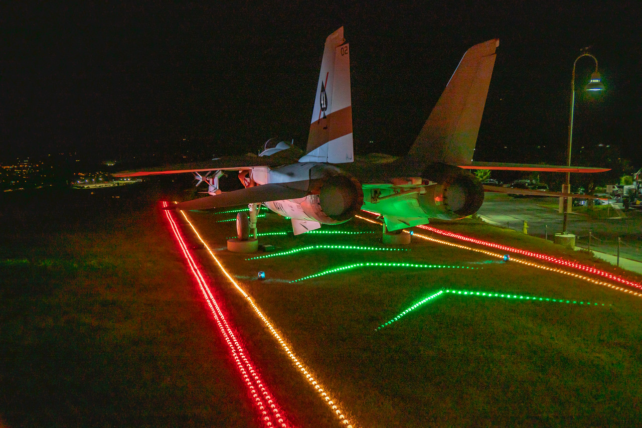 F-14 Tomcat as part of the Reagan Holiday Lights display