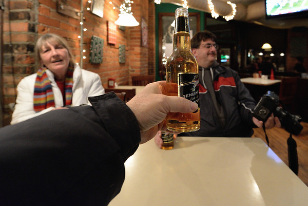 Beer at the Flat Iron Cafe - Cleveland Holiday Lights