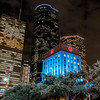 Downtown Houston at night.