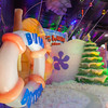 Ice Land attraction at Christmas at Moody Gardens in Galveston. Amazing display of ice sculptures with childrens Spongebob story line. Temperature of 9 degrees requires parkas, provided by Moody Gardens.