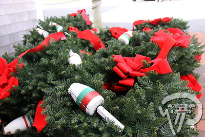 DOWNTOWN — wreaths placed throughout . . . for the holidays — 2012