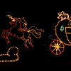 Christmas lights and displays at Moody Gardens in Galveston, Texas.