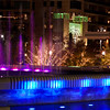 Christmas Lights at night in The Woodlands, Texas.