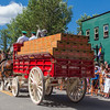 Budweiser Float with Clydesdale Horses at Breckenridge Fourth of July parade.