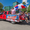 Budweiser Float at Breckenridge Fourth of July parade.