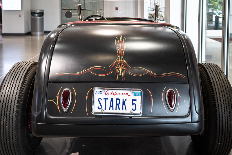 Perfect! The Roadster is from the collection of Jon Favreau