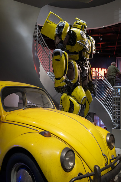 A yellow VW Beetle and Bumblebee