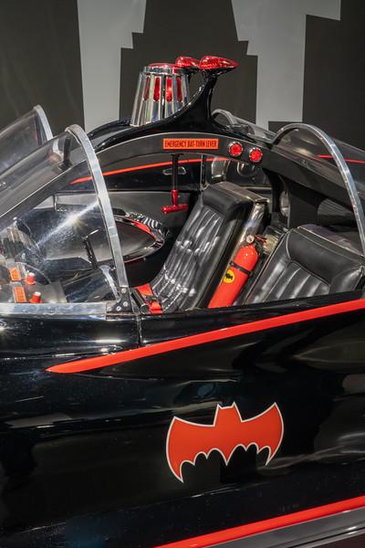 Interier detail of the 1966 Batmobile.