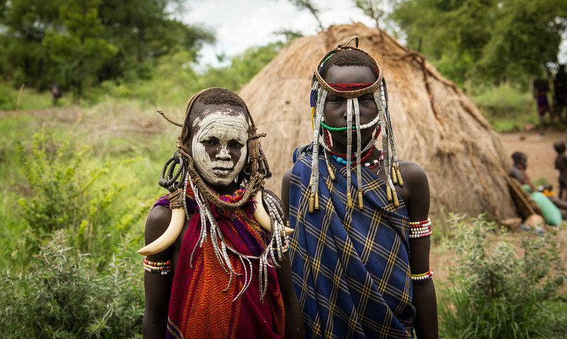 Children of the Mursi Tribe