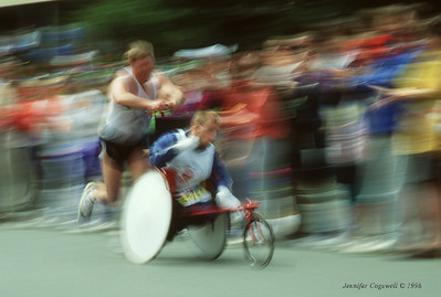 The Hoyts run of the Boston Marathon - Copyright - Jennifer Cogswell
