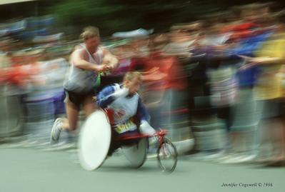 The Hoyts run of the Boston Marathon - Copyright - Jennifer Cogswell