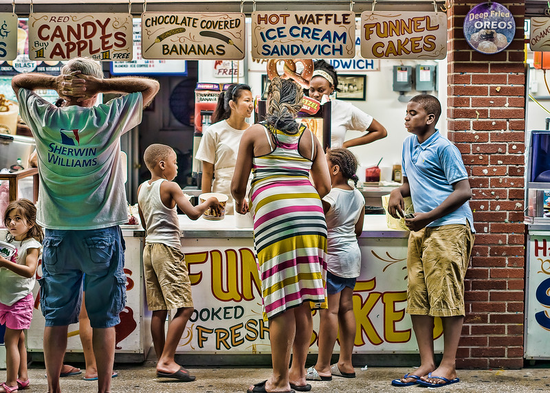 Funnel Cakes OCMD Boardwalk