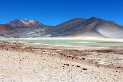 Laguna Verde in the altiplano, Atacama Desert, Chile