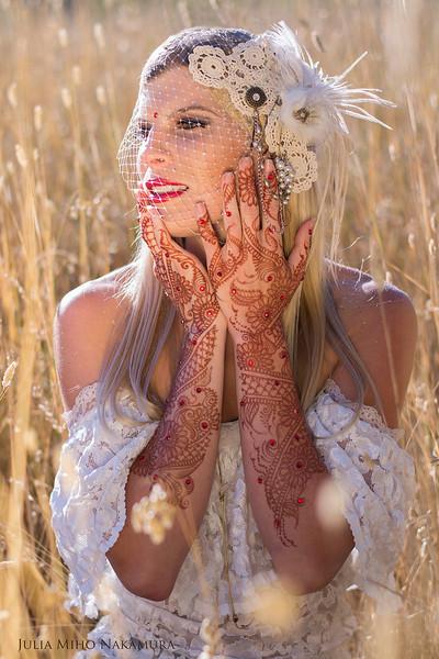 Wedding henna ~ Headpiece & clothing by Raine @ www.etsy.com/shop/GatoDesigns