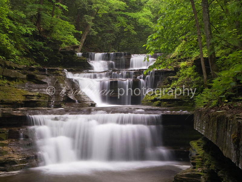 Unnamed waterfall in Buttermilk Fall State Park, NY