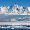 Mt Herschel<br /> Mt Herschel 3,335m (10,942ft) high.  It rises almost vertically straight out of the Ross Sea, Antarctica
