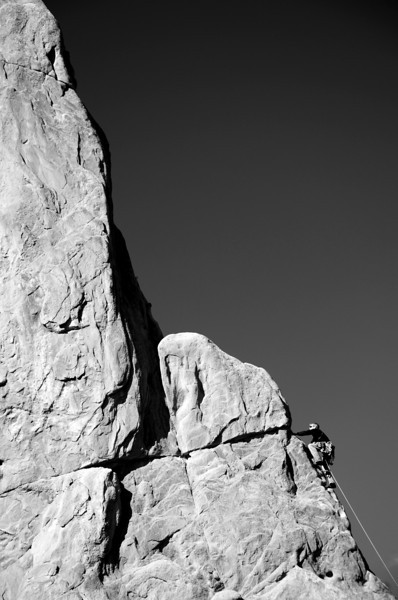 Rock Climber at Garden of the Gods