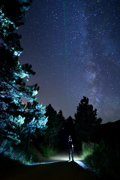 Dark Sky Survey<br /> <br /> (I got to help out with a project through work, measuring light pollution in our mountain properties... took a little extra time to get creative with the camera as well. )