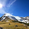 "Snow in the high country!!  It's officially Winter above 11,000 feet! <br /> <br /> <br /> If you blow this photo up to the original size, you can see the foot prints my brother and I made on our way up the snowy cap of Roger's Pass (the big mountain in the foreground)<br /> <br /> Here is the original! <br /> <a href=""http://www.lohrphoto.com/Portfolio/Panorama/16276812_j4KSdw#!i=2799725622&k=dtWh4hq&lb=1&s=O"">http://www.lohrphoto.com/Portfolio/Panorama/16276812_j4KSdw#!i=2799725622&k=dtWh4hq&lb=1&s=O</a>"