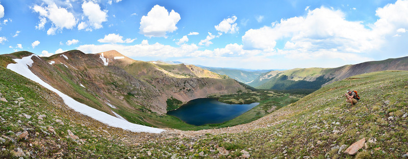 Heart Lake - A Panorama above 12,000 ft