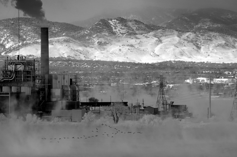 Powerplant on a winter day.  I like this photo, but I think the composition could be better. Any suggestions?