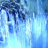 The Cold Shower -  Here is an abstract shot.  It's a close up of a small waterfall I saw along a creek.  I used a cool white balance to give it the icy blue tone and the sun was reflecting directly onto the water which resulted in all the blue neon scribbles.