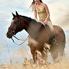 A girl and her horse.  Something amazing about that combination.