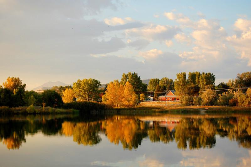Fall Sunset at Pella Ponds
