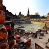 a temple complex in Ayutthaya, Thailand