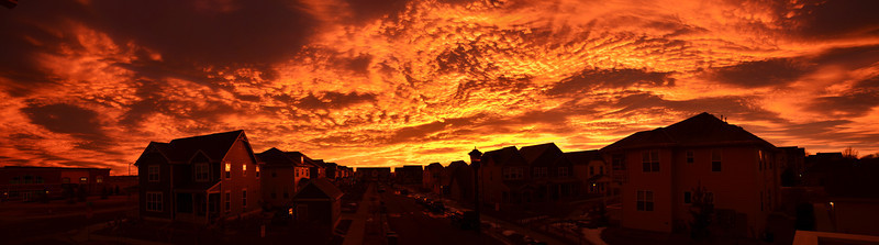 Yesterday's Sunrise - I woke up and this was the sight I saw off my front porch.
