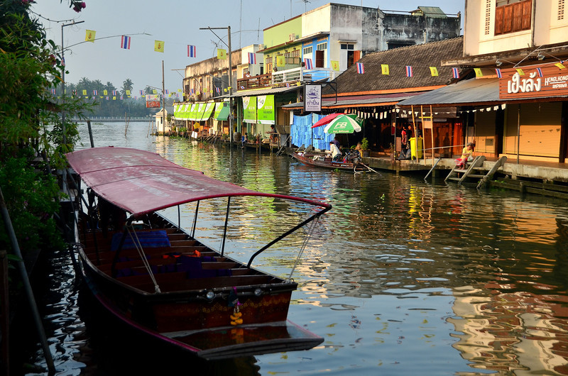 Amphawa river market first thing in the morning
