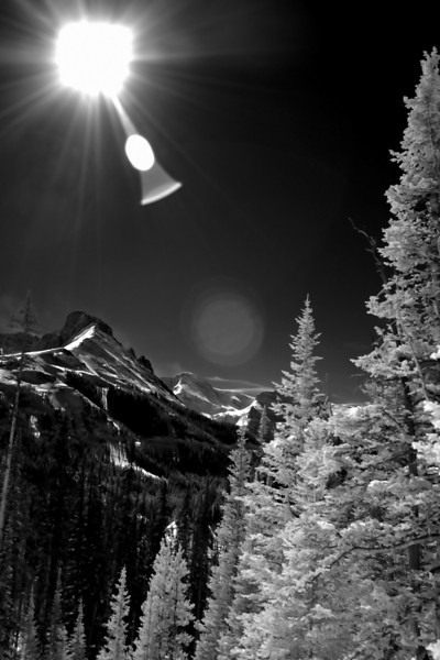 B&W Infrared of the Craggs by Cameron Pass, CO