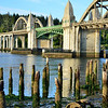 Florence, Oregon's historic bridge - I uploaded 2 images today from out trip to florence oregon. We stayed over night and I got this photo first thing in the morning, the next one was taken at night.