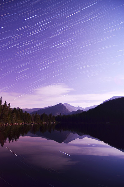 My first attempt at startrails. 73 shots at 25 seconds each