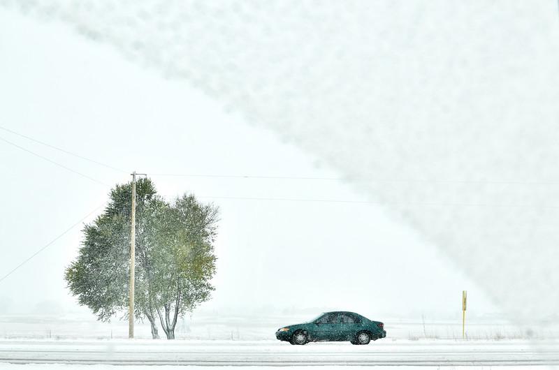 Snowy Driver on a Snowy Day