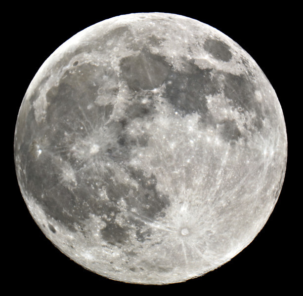 "I tried out my new camera attachment for my 8"" Celestron telescope on Supermoon!!!<br /> <br /> The optics on the telescope are not nearly as good as the glass in a camera lens though so it's near impossible to get an image in complete focus.  This is about as good as it gets.  I guess the telescope is meant for just observation and not photography.  Still cool to be able to capture a close up of our dear ol' moon like this!"