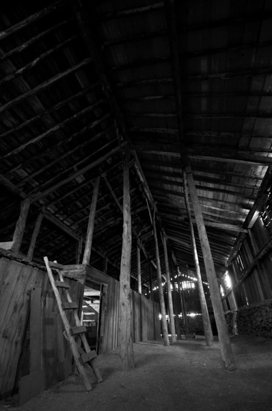 Another barn shot from walker ranch.  Hard to think that this entire building was built by hand with no equipment in the 1800's... even every nail was made by hand by Mr. James Walker himself