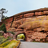 Entrance tunnel at Red Rocks Amphitheater