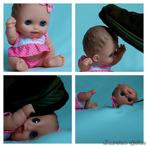 Baby doll losing it's head