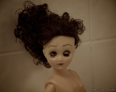 Doll with a broken eye