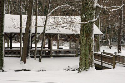 Picnic Area in the Snow