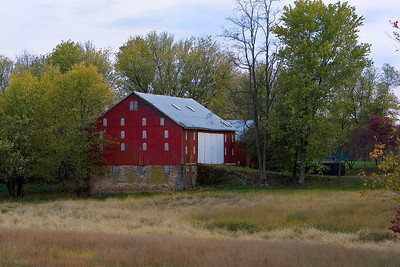 Red Barn in Late Summer